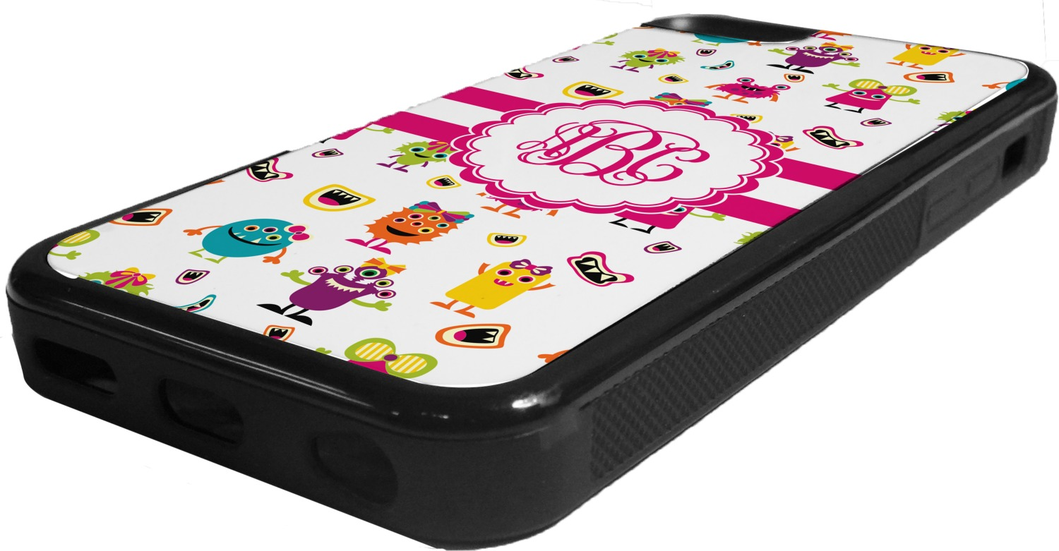 Girly Monsters Rubber IPhone 5C Phone Case (Personalized