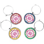 Girly Monsters Wine Charms (Set of 4) (Personalized)
