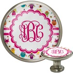 Girly Monsters Cabinet Knob (Silver) (Personalized)
