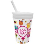 Girly Monsters Sippy Cup with Straw (Personalized)