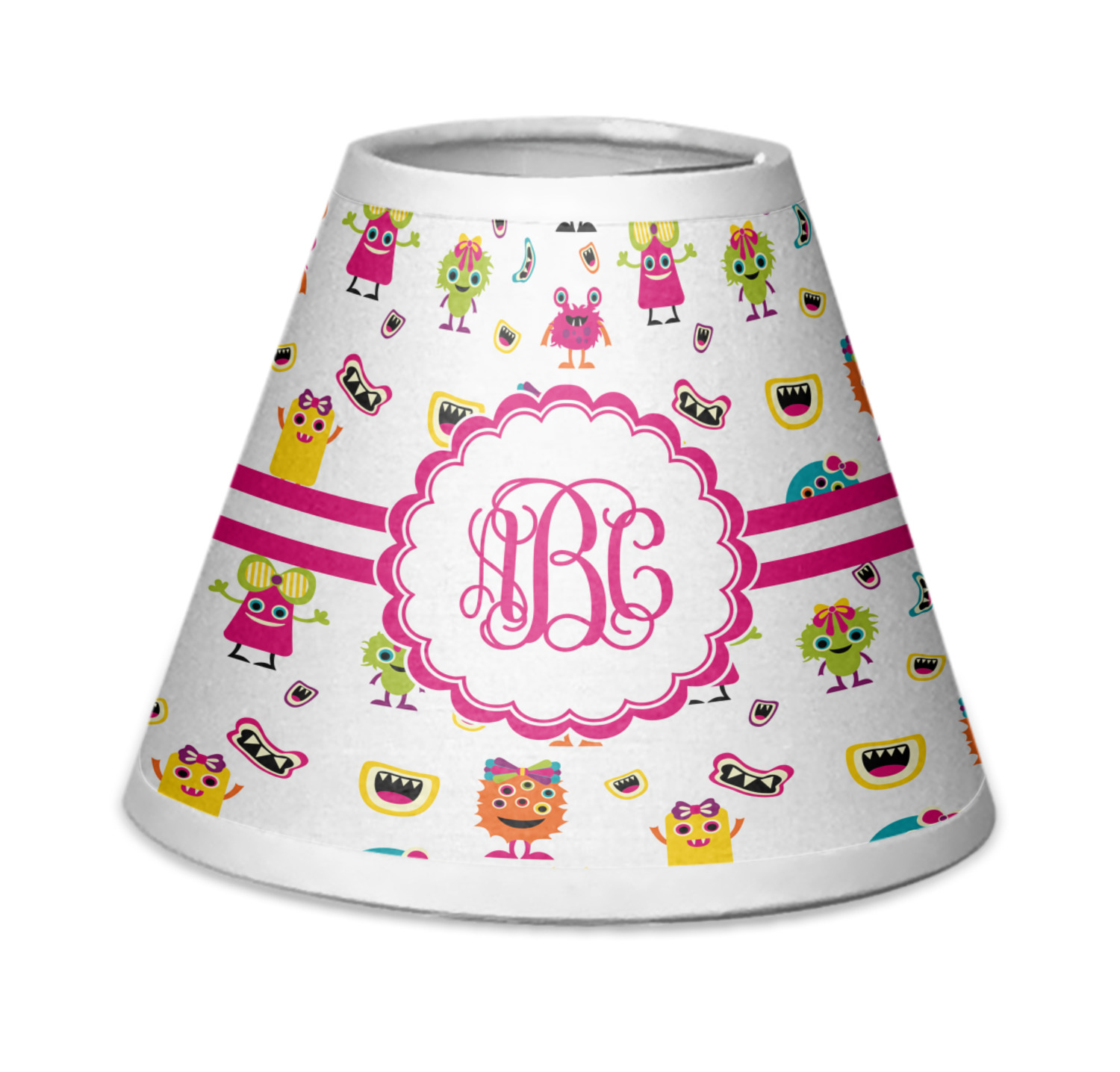 Girly Lamps For Bedroom: Girly Monsters Chandelier Lamp Shade (Personalized