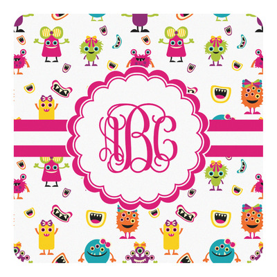Girly Monsters Square Decal (Personalized)