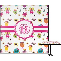 Girly Monsters Square Table Top (Personalized)