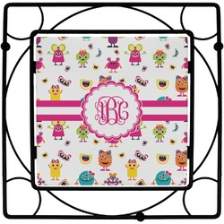 Girly Monsters Square Trivet (Personalized)