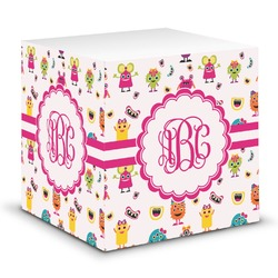 Girly Monsters Sticky Note Cube (Personalized)