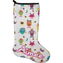 Girly Monsters Holiday Stocking - Neoprene (Personalized)