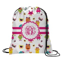 Girly Monsters Drawstring Backpack (Personalized)