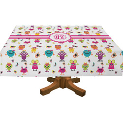 Girly Monsters Rectangle Tablecloth (Personalized)