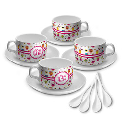 Girly Monsters Tea Cup - Set of 4 (Personalized)