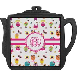 Girly Monsters Teapot Trivet (Personalized)