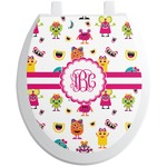 Girly Monsters Toilet Seat Decal (Personalized)