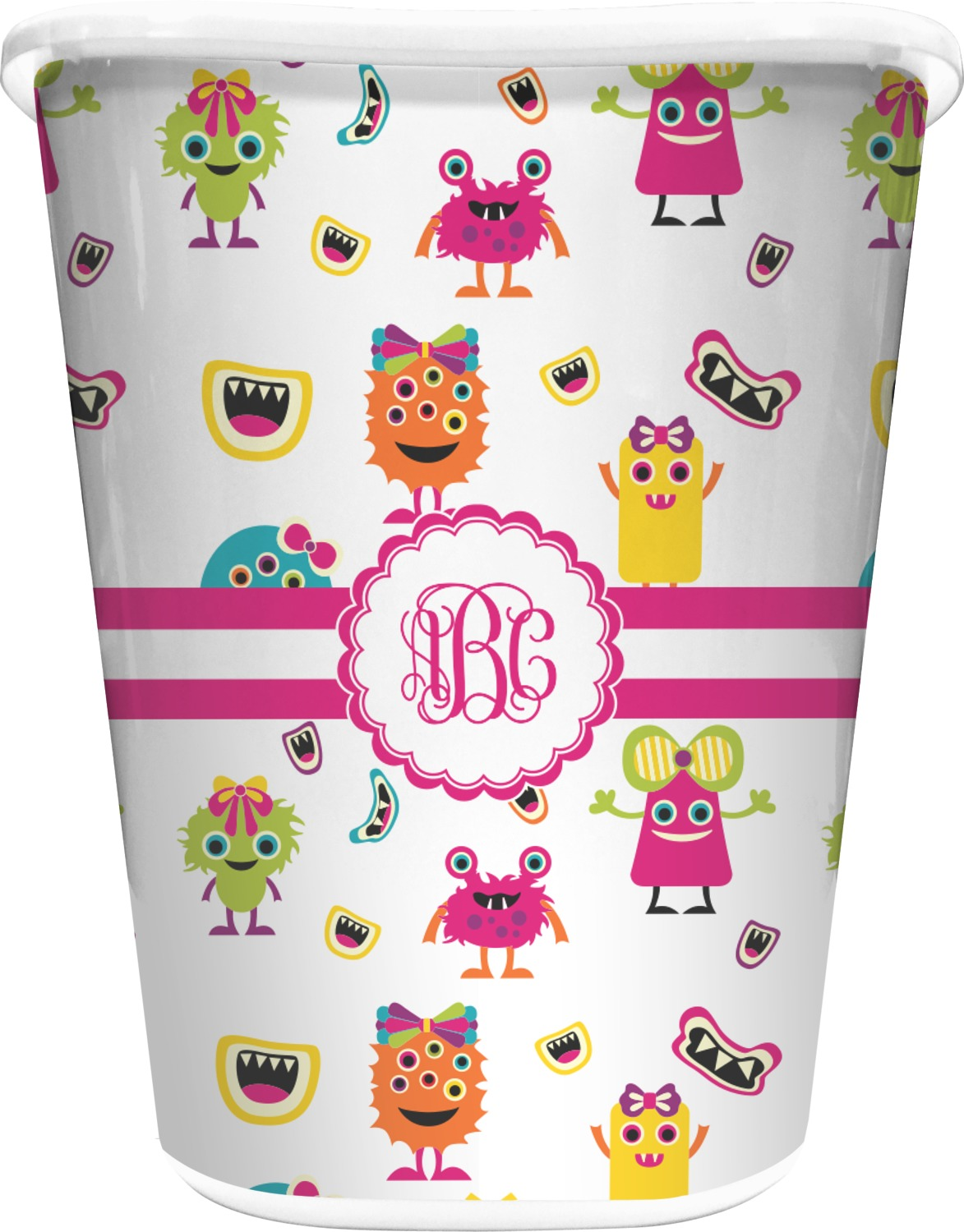 Girly monsters waste basket personalized youcustomizeit for Girly bathroom accessories