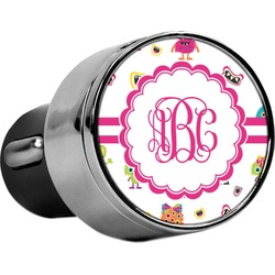 Girly Monsters USB Car Charger (Personalized)