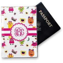 Girly Monsters Vinyl Passport Holder (Personalized)