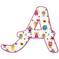 Girly Monsters Letter Decal - Custom Sized (Personalized)