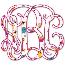 Girly Monsters Monogram Decal - Small (Personalized)