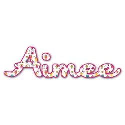 Girly Monsters Name/Text Decal - Custom Sized (Personalized)