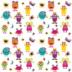 Girly Monsters Wallpaper & Surface Covering