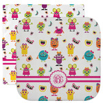 Girly Monsters Facecloth / Wash Cloth (Personalized)