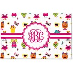 Girly Monsters Woven Mat (Personalized)