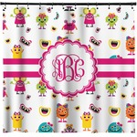 Girly Monsters Shower Curtain (Personalized)
