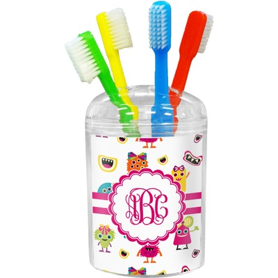 Girly Monsters Toothbrush Holder (Personalized)