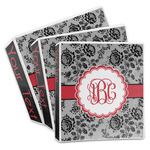 Black Lace 3-Ring Binder (Personalized)