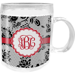 Black Lace Acrylic Kids Mug (Personalized)