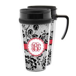 Black Lace Acrylic Travel Mugs (Personalized)