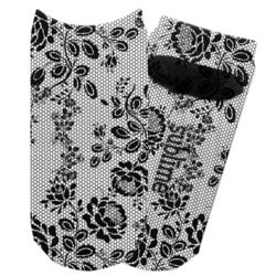 Black Lace Adult Ankle Socks (Personalized)