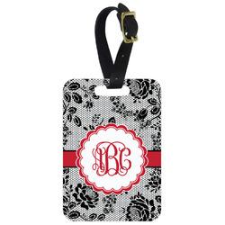 Black Lace Aluminum Luggage Tag (Personalized)