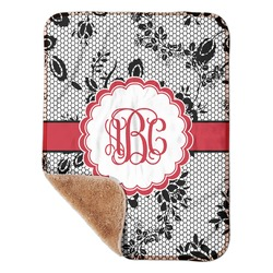 "Black Lace Sherpa Baby Blanket 30"" x 40"" (Personalized)"