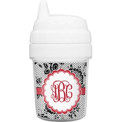 Black Lace Baby Sippy Cup (Personalized)