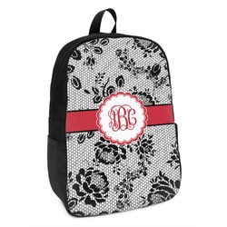 Black Lace Kids Backpack (Personalized)
