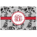 Black Lace Woven Mat (Personalized)
