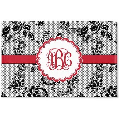 Black Lace Woven Mat (Personalized)