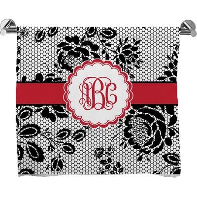 Black Lace Bath Towel (Personalized)