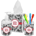 Black Lace Bathroom Accessories Set (Personalized)