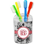 Black Lace Toothbrush Holder (Personalized)