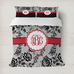 Black Lace Duvet Covers (Personalized)