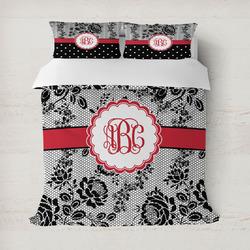 Black Lace Duvet Cover (Personalized)