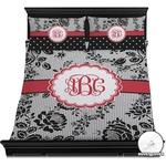 Black Lace Duvet Cover Set (Personalized)