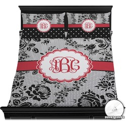 Black Lace Duvet Cover Set (Personalized)