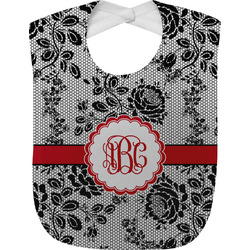 Black Lace Baby Bib (Personalized)