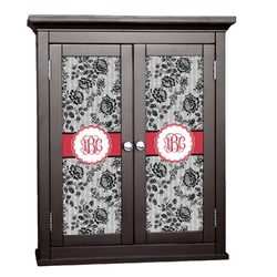Black Lace Cabinet Decal - XLarge (Personalized)