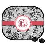 Black Lace Car Side Window Sun Shade (Personalized)