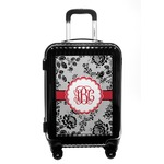 Black Lace Carry On Hard Shell Suitcase (Personalized)
