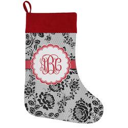 Black Lace Holiday / Christmas Stocking (Personalized)