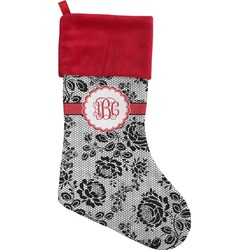 Black Lace Christmas Stocking (Personalized)