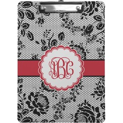 Black Lace Clipboard (Personalized)